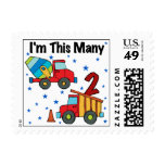 Construction Vehicles 2nd Birthday Gifts Postage