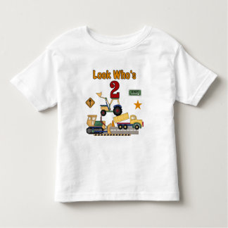 Construction Vehicles 2nd Birthday Toddler T-shirt