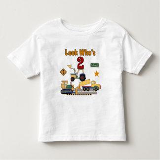Construction Vehicles 2nd Birthday T Shirts