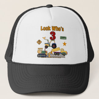 Construction Vehicles 3rd Birthday Tshirts Trucker Hat