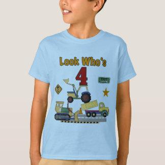 Construction Vehicles 4th Birthday Tshirts