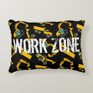 Construction vehicles decorative pillow
