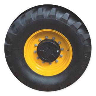 Construction Wheel Classic Round Sticker
