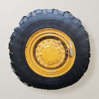 Construction Wheel Round Pillow