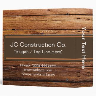 "Construction Wood Grain Binder 2"""