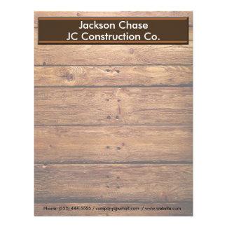 Construction Wood Grain Letterhead