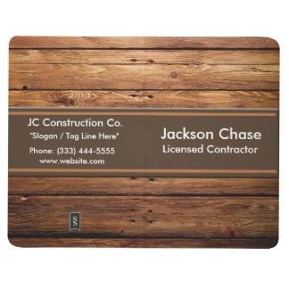 Construction Wood Grain Pocket Journal