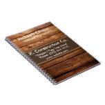 Construction Wood Grain Spiral Notebook