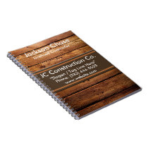 Construction Wood Grain Spiral Notebook