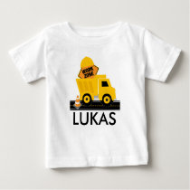 Construction Work Zone Birthday Shirt, Sibling Baby T-Shirt