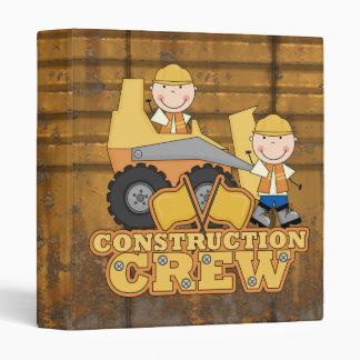 Construction Worker 3 Ring Binder