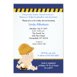 "CONSTRUCTION WORKER Baby Shower Invitation 5x7 5"" X 7"" Invitation Card"