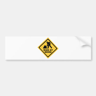 Construction Worker Bumper Sticker