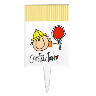 Construction Worker Cake Topper