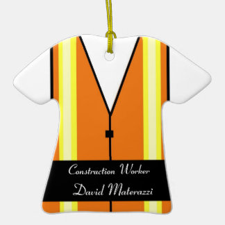 Construction Worker Christmas Ornament