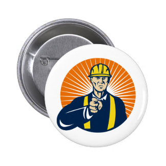 construction worker engineer pointing finger buttons