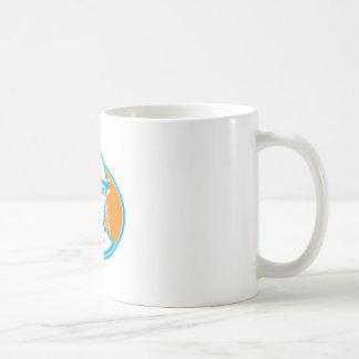 Construction Worker Engineer Pylons Retro Coffee Mug