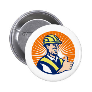 construction worker engineer thumbs up buttons