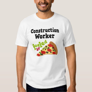 Construction Worker (Funny) Pizza T Shirt