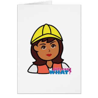 Construction Worker Head Dark Card