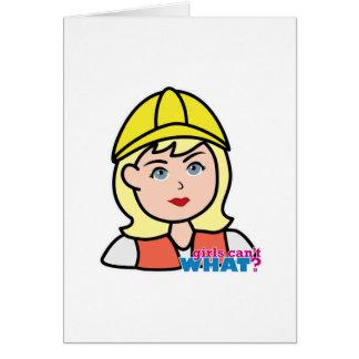 Construction Worker Head Light/Blonde Card