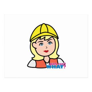 Construction Worker Head Light/Blonde Postcard