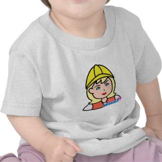 Construction Worker Head Light/Blonde T Shirts