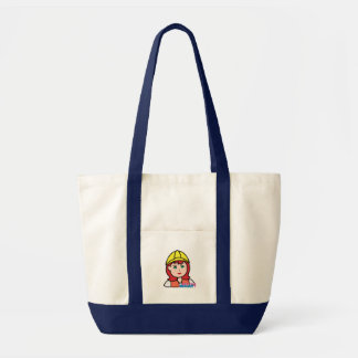 Construction Worker Head Light/Red Canvas Bags