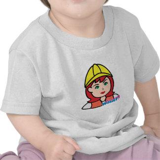 Construction Worker Head Light/Red T-shirt
