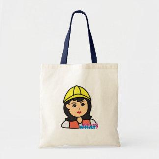 Construction Worker Head Medium Bag
