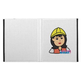 Construction Worker Head Medium iPad Case