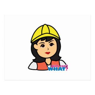 Construction Worker Head Medium Postcard
