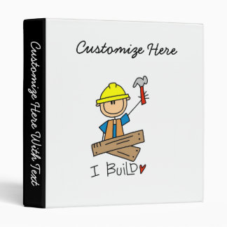 Construction Worker I Build T-shirts and Gifts Binder