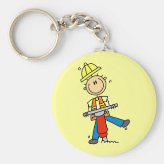 Construction Worker I Build T-shirts and Gifts Keychain