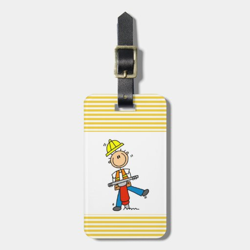 Construction Worker I Build T-shirts and Gifts Luggage Tags