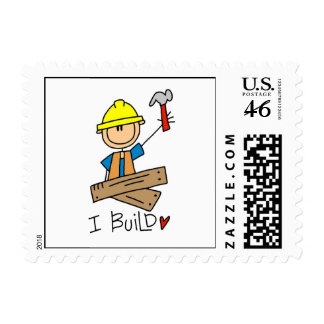Construction Worker I Build T-shirts and Gifts Postage