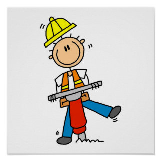 Construction Worker I Build T-shirts and Gifts Poster
