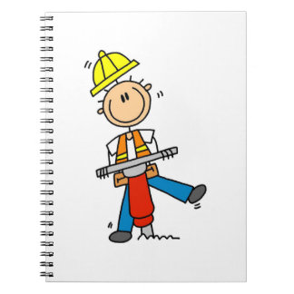 Construction Worker I Build T-shirts and Gifts Spiral Note Books
