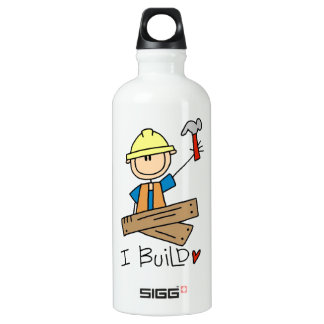 Construction Worker I Build T-shirts and SIGG Traveler 0.6L Water Bottle