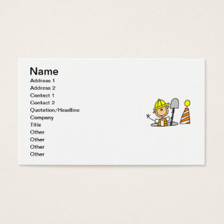 Construction Worker in Manhole T-shirts and Gifts Business Card