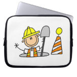 Construction Worker in Manhole T-shirts and Gifts Computer Sleeves