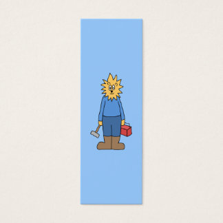 Construction Worker Lion. Mini Business Card
