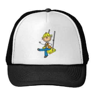 Construction Worker on High Rise Tshirts and Gifts Trucker Hat