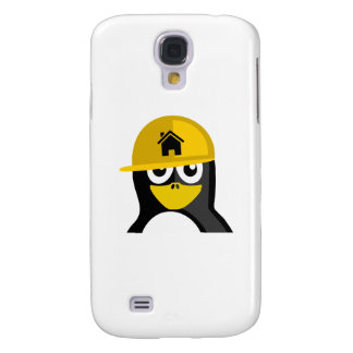 Construction Worker Penguin Samsung Galaxy S4 Cover