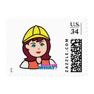 Construction Worker Postage