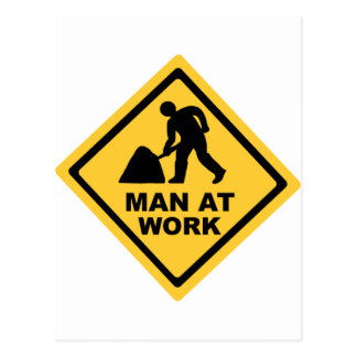 Construction Worker Postcard