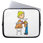 Construction Worker Sawing Lumber Gifts Laptop Sleeve