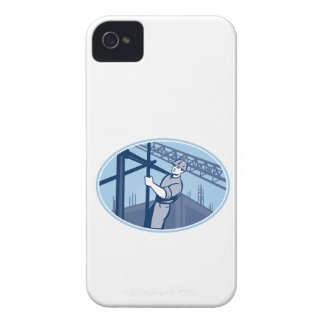Construction Worker Scaffolding Retro iPhone 4 Cases