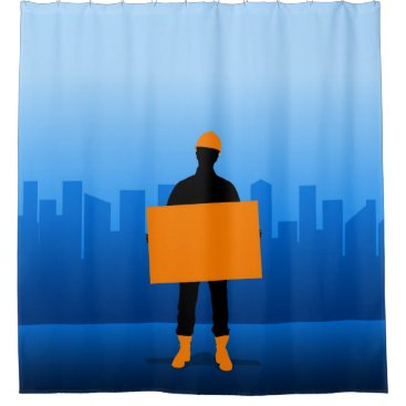 Construction Worker Shower Curtain