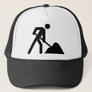 construction worker sign trucker hat